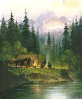 Camp in the Tetons by G. Harvey